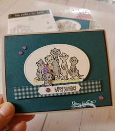 gang's all meer stampin' up ginny harrell Hand Made Greeting Cards, Making Greeting Cards, Birthday Cards For Men, Handmade Birthday Cards, Cat Cards, Kids Cards, The Journey, Umbrella Cards, Stamping Up Cards