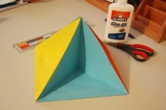 Pyramid dioramas. Going to use these with my students who need to make a project to present.