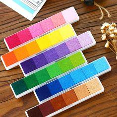 1 Piece DIY Scrapbooking Vintage Crafts Ink pad Colorful Inkpad Stamps Sealing Decoration Stamp