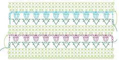 Patroon tulpenrand behorende bij het potje met de tulpensteek