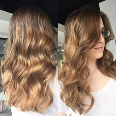 #SeniorStylist #MauraSantostefano gave our client Andrea a gorgeous caramel #sombre without the use of any bleach! #HRBL #ottawa #oldottawasouth #ottawasalon #nobleach #behindthechair