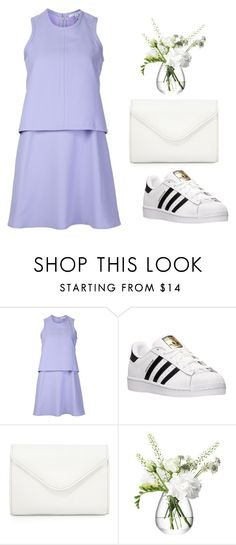 """""""Purple & white"""" by grassgrvsk ❤ liked on Polyvore featuring Carven, adidas, Neiman Marcus and LSA International"""