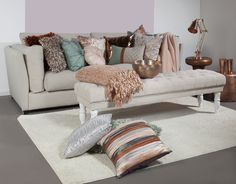 Nature and Copper All Sale, Love Seat, Cushions, Couch, Throw Pillows, Blanket, Bed, Furniture, Home Decor