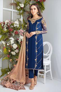 Kindly Read Detail Description on our Website. You can Also purchase this Outfit online from our website www.saroshsalman.com & pay by Credit/Debit Card & Paypal Pakistani Party Wear Dresses, Pakistani Dress Design, Pakistani Outfits, Party Dresses, Dress Party, Pakistani Bridal, Indian Fancy Dress, Indian Dresses, Indian Suits