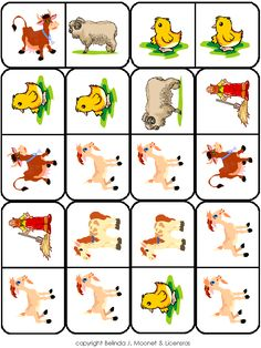 Farm Animals, Animals And Pets, Farm Unit, Farm Crafts, School Play, Bible Crafts, Matching Games, Elementary Schools, Worksheets
