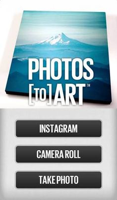 Photos to Art app - Turn your instagrams into wall hanging art!