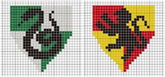 For your stitching enjoyment, I present our House badge patterns and a cross-stitch tutorial. Hogwarts House Colors, Hogwarts Houses, Cross Stitching, Cross Stitch Embroidery, Cross Stitch Patterns, Pixel Art, Beading Patterns, Embroidery Patterns, Harry Potter Perler Beads