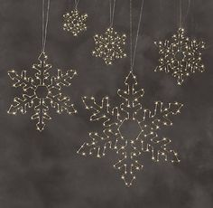 Starry Light Snowflake Collection | RH