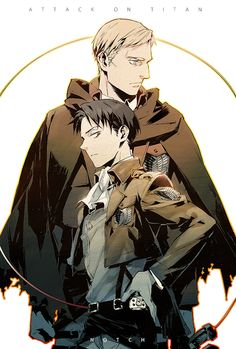Attack on Titan (Shingeki no Kyojin) - Erwin Smith and Levi Ackerman