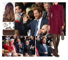 """Watching the RBS Six Nations Match at Twickenham with harry"" by charlottedebora ❤ liked on Polyvore featuring Emporio Armani, Aquatalia by Marvin K., Vince Camuto, Betteridge and Blue Nile"