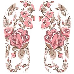 Estampa para chinelo Floral 000538