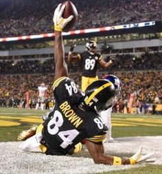 Giants vs. Steelers - Pittsburg Steelers WR Antonio Brown makes the touchdown! (12/4/16)