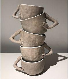 "sandraaa on Twitter: ""neeeeeeeeed to have them… "" Ceramic Teapots, Ceramic Pottery, Pottery Art, Ceramic Art, Ceramics Pottery Mugs, Slab Pottery, Pottery Studio, Ceramic Bowls, Pottery Teapots"