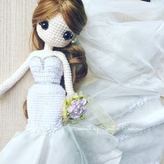 "523 Likes, 23 Comments - KamSiewPing (@somethingsweetnprecious) on Instagram: ""The graceful bride ~❤️ #weddingdoll #weddinggift #crochetbride"""