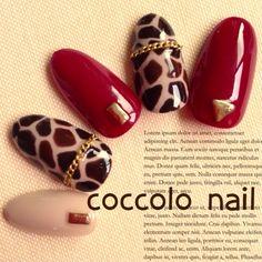 coccolo_nailさんのジェルネイル,秋,レッド,ハンド,アニマル,サンプルチップネイル♪[648903]|ネイルブック