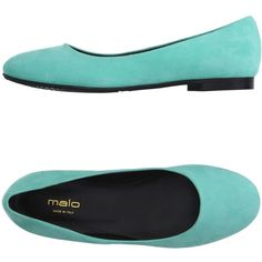 Malo Ballet Flats ($230) ❤ liked on Polyvore featuring shoes, flats, light green, leather shoes, flat shoes, leather ballet flats, ballerina flat shoes and ballerina pumps