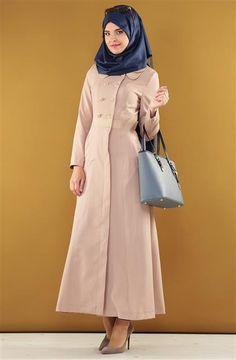Doquier Double-Nude Baby Collar Overcoat primer DO-B4-55078-88