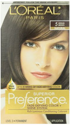 L'Oreal Preference -5 Medium Brown, ( Case of 12 ) ** Want to know more, click on the image.