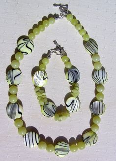 Necklace & Bracelet Set  Mother of Pearl and by SunnyCrystals, $31.00