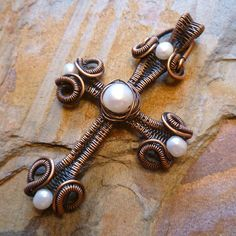 Scrolls and Coils Cross | JewelryLessons.com