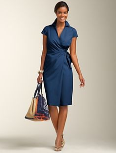 Wrap dress.  Wrap, tie and go.