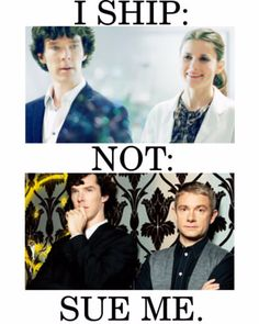 """sue me. well i mean i ship johnlock as friends. but SHERLOLLY. John and sherlock have a """"bromance"""" and it's cute and all. I think sherlock and Molly are cute. Sherlock probably couldn't handle Molly. Sherlock Fandom, Sherlock Holmes, Funny Sherlock, Mrs Hudson, 221b Baker Street, John Watson, Johnlock, Martin Freeman, Rage"""