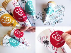 Om Ice Cream brand by Charlotte Estelle Littlehales, via Behance