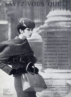 Hermès (Handbags) 1961 Christian Dior Fashion Photography