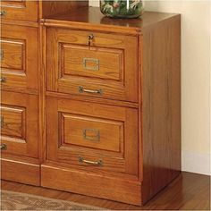 Tired of #home offices that offer storage at the expense of your workspace? this two drawer file cabinet provides plenty of out of sight storage without sacrific...