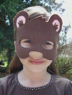 Máscara de oso pardo