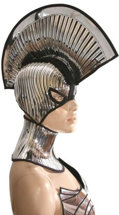 JOJO POST FASHION: wearable technology. Modern, Insane Cyberpunk Hair, futuristic fashion.