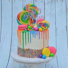 No photo description available. No photo description available. Candy Birthday Cakes, Sweet 16 Birthday Cake, Candy Cakes, Cupcake Cakes, Candy Theme Cake, Girl Birthday, Birthday Ideas, Sweet 16 Cakes, Cute Cakes