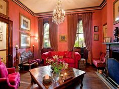 Pink Living Room in Darlinghurst, Sydney