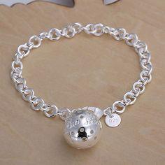 Barato Atacado 925 pulseira de prata, Prata banhado a moda jóias pulseira de cadeia para mulheres / homens SB043, Compro Qualidade Chain & Ligação Pulseiras diretamente de fornecedores da China:          Tamanho: 19 cm * 0,5 cm  Peso: 18 g