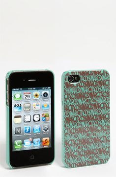 MARC BY MARC JACOBS 'Linear Logo' iPhone 4 & 4S Case available at #Nordstrom atomic green multi- Why can't they make cool cases for non I-phones!? A girl can dream for one I guess!