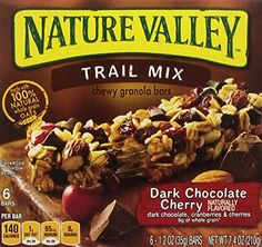 Nature Valley Trail Mix Chewy Granola Bars Dark Chocolate Cherry  74 OZ Pack of 12 -- Details can be found by clicking on the image. Note: It's an affiliate link to Amazon.