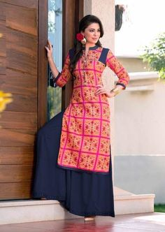 "Originally shared by #now36 fashion  Look gorgeous with these most beautiful long kurtis. Ready to ship. #longkurtis   #clothing   ""#Wedding Special Latest #cotton #designer #dress #material..!"" Order On Whatsapp no +91 9377559959 #longstraightkurti #designerlongkurtis"