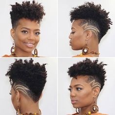 The undercut hairstyle is back for The look is everywhere right now and we can see why. Weve collected the best undercut designs for badass women. Natural Hair Short Cuts, Tapered Natural Hair, Short Hair Cuts, Natural Hair Styles, Undercut Natural Hair, Short Hair Designs, Shaved Hair Designs, Undercut Designs, Edgy Haircuts