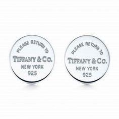 Return To Tiffany & Co Mini Round Tag Earrings