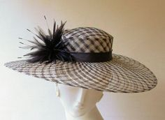 Coutoure Hats: Sarah-open weave straw hat with feather trim-made in England Ladies Hats, Hats For Women, English Hats, Madd Hatter, Royal Ascot Hats, Wide Brimmed Hats, Kentucky Derby Hats, Open Weave