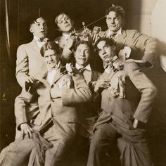 High art hijinks. Legendary CIA alumnus Viktor Schreckengost '29 (front row, center) and his Alpha Beta Delta fraternity brothers clown around for a photograph in 1927.