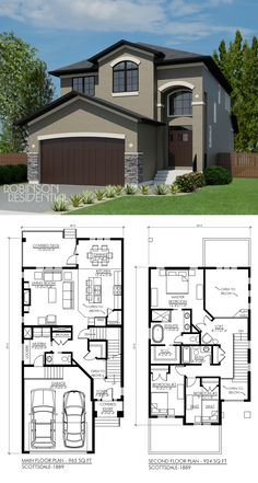 1889 sq. ft, 3 bedroom, 3 bath. *one of my favourite plans - love exactly enough bedrooms but I like it and the areas open to below are great