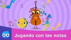Jugando con las notas musicales | Canciones infantiles | Kidloom Music School, Early Intervention, Baby Music, Music Classroom, Teaching Music, Music Education, Cello, Speech Therapy, Musicals