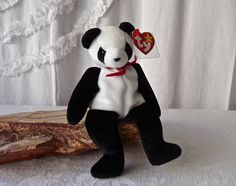 Vintage Beanie Baby Panda Bear Fortune TY Birthdate December 6