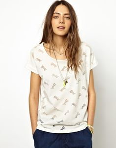 Image 1 ofMaison Scotch T-Shirt in Burn Out