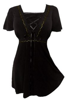 Dare To Wear Victorian Gothic Women's Plus Size Angel Corset Top Black 5X - Buy Now: $53.99