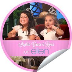 Sophia Grace and Rosie on Ellen I ♥ these girls!!!!