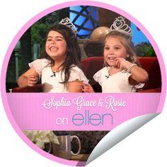 Sophia Grace and Rosie on Ellen I ♥ these girls!!!!