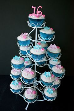 Cupcake Decorating Ideas For Sweet 16 : 1000+ images about Cupcake Towers on Pinterest Cupcake ...