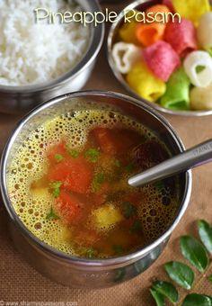 How to Make Rasam - Indian Rasam Recipe Side Dish Recipes, Lunch Recipes, Soup Recipes, Recipies, Cooking Recipes, Tambuli Recipe, Rasam Recipe, Vegetarian Soup, Vegetarian Recipes